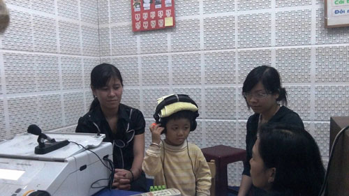 international outreach: a newborn hearing screening in progress